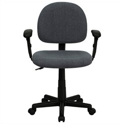 Flash Furniture Ergonomic Task Chair in Gray with Adjustable Arms