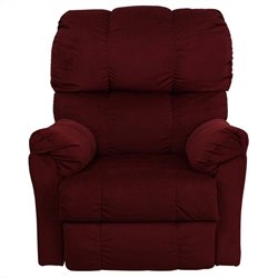 Flash Furniture Contemporary Top Hat Rocker Recliner in Berry