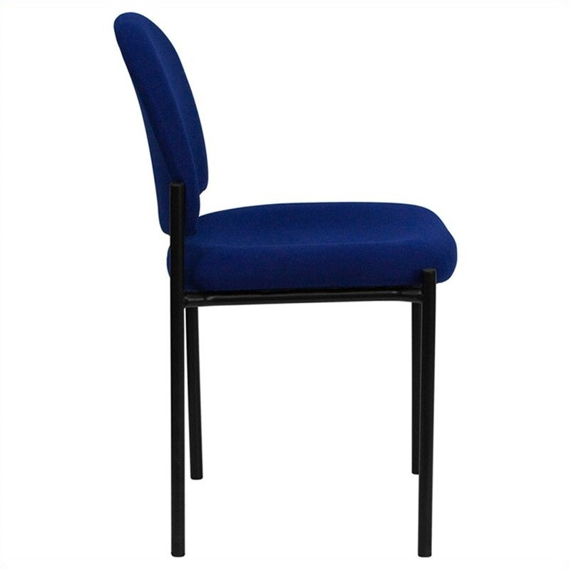 Stacking Side Stacking Chair in Black and Blue