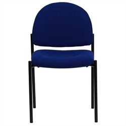 Flash Furniture Stackable Side Chair in Black and Blue