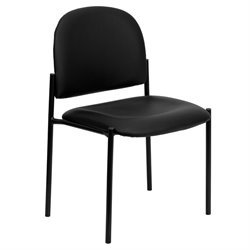 Flash Furniture Stackable Side Chair in Black