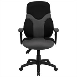 High Back Mesh Task Office Chair in Black and Gray