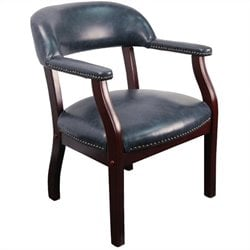 Flash Furniture Luxurious Conference Guest Chair in Navy