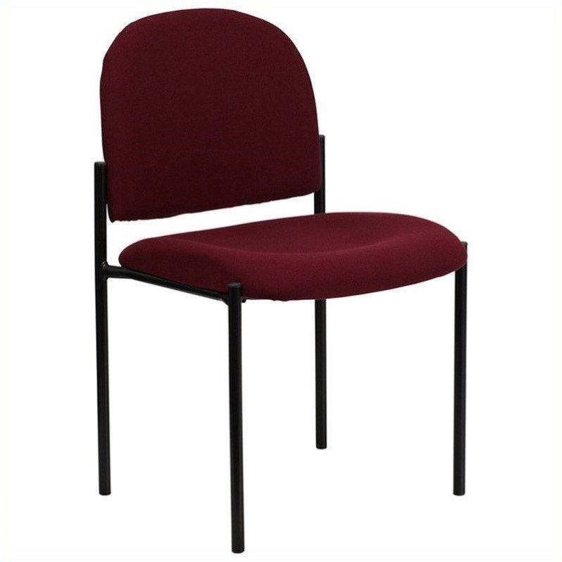 Flash Furniture Stacking Side Stacking Chair in Black and Burgundy