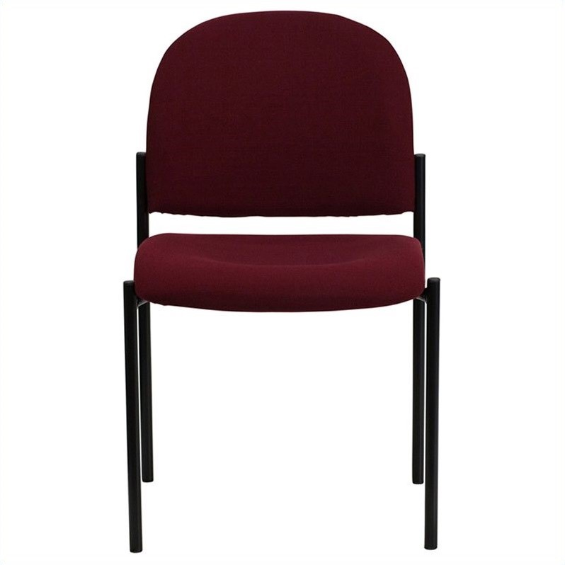 Stackable Side Chair in Black and Burgundy