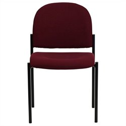 Flash Furniture Stackable Side Chair in Black and Burgundy
