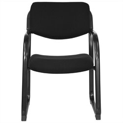 Executive Side Guest Chair in Black with Sled Base