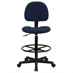 Patterned Ergonomic Drafting Chair in Blue