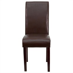 Flash Furniture Upholstered Parsons Dining Chair in Dark Brown