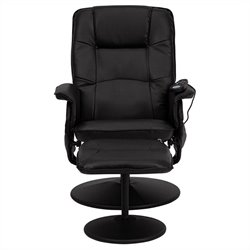 Flash Furniture Massaging Recliner and Ottoman in Black