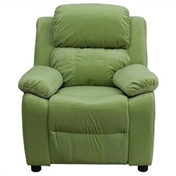 Flash Furniture Contemporary Kids Recliner in Avacado Green