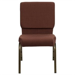 Church Stacking Guest Chair in Brown and Gold