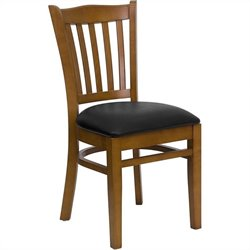 Flash Furniture Hercules Series Dining Chair in Cherry with Black Seat