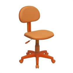 Flash Furniture Fabric Task Chair in Orange