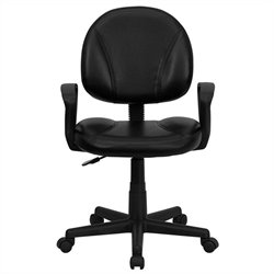 Flash Furniture Ergonomic Task Office Chair in Black with Arms