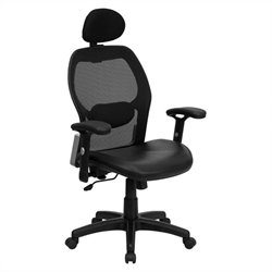 Flash Furniture High Back Super Mesh Office Chair in Black