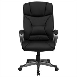 Flash Furniture Comfortable Office Chair in Black with Arms