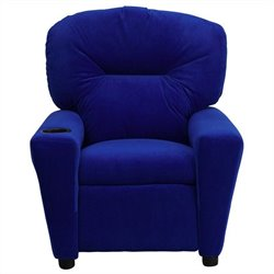 Flash Furniture Kids Recliner in Blue with Cup Holder