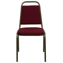 Banquet Stacking Chair in Burgundy and Gold