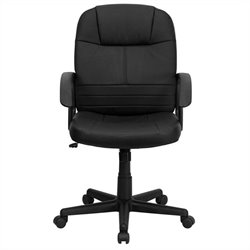 Flash Furniture Mid Back Executive Swivel Office Chair in Black