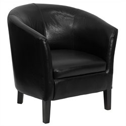 Flash Furniture Barrel Shaped Guest Chair in Black