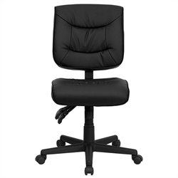 Flash Furniture Mid Back Multi Functional Task Chair in Black