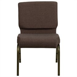 Flash Furniture Hercules Stacking Church Stacking Guest Chair in Brown