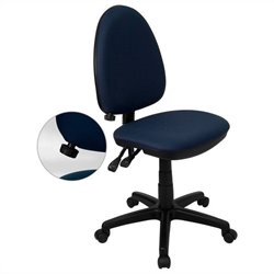 Flash Furniture Mid-Back Task Office Chair in Navy Blue