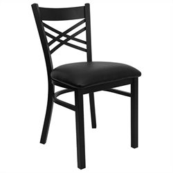 Back Metal Dining Chair in Black