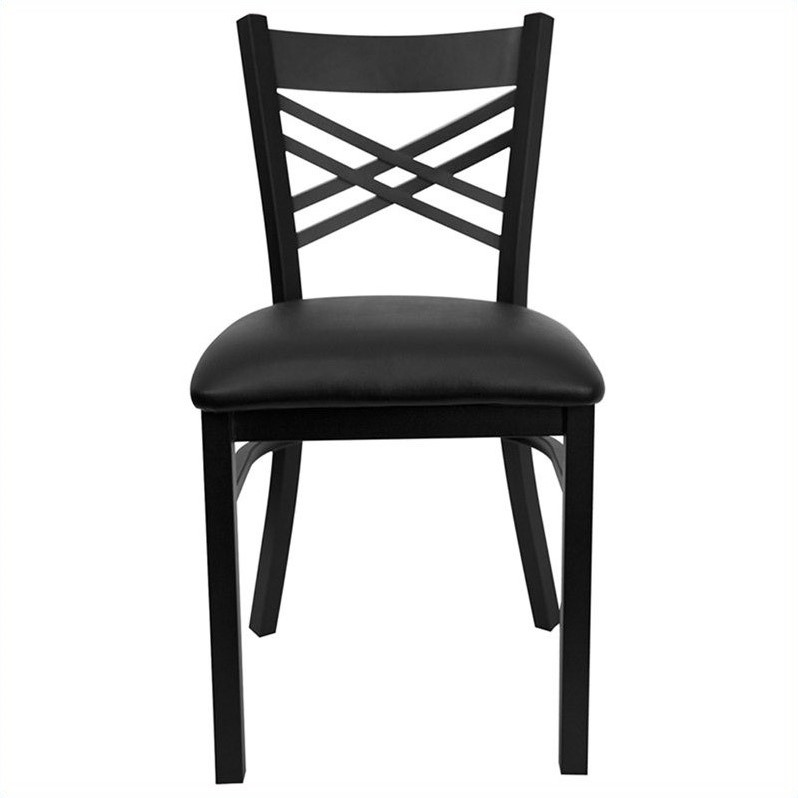 Hercules Series Back Metal Dining Chair in Black