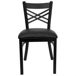 Flash Furniture Hercules Series Back Metal Chair in Black