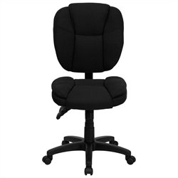 Flash Furniture Mid Back Ergonomic Task Chair in Black