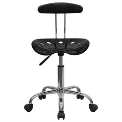 Flash Furniture Vibrant Computer Task Chair in Black and Chrome