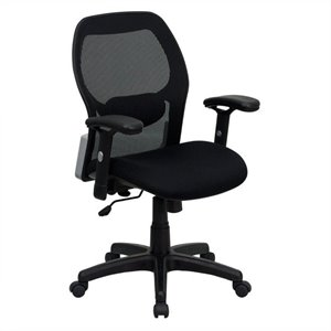 Mid-Back Super Mesh Office Chair in Black