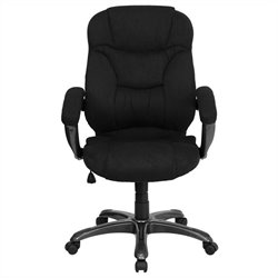 Flash Furniture High Back Upholstered Office Chair in Black
