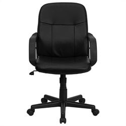 Flash Furniture Mid Back Glove Vinyl Executive Office Chair in Black