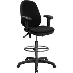 Flash Furniture Ergonomic Drafting Stool with Adjustable Foot Ring