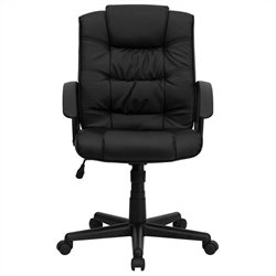 Flash Furniture Mid Back Black Leather Office Chair