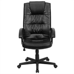 Ergonomically Curved Office Chair in Black