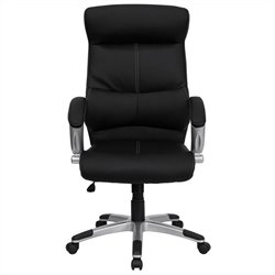 High Back Executive Office Chair with Black Leather