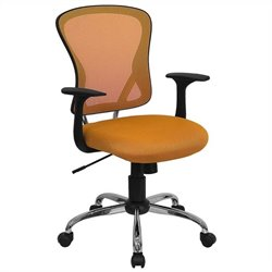Mid Back Mesh Office Chair in Orange
