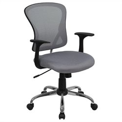 Mid Back Mesh Office Chair in Gray