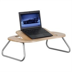 Flash Furniture Angle Computer Table with Dark Natural Top