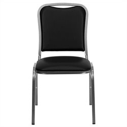 Flash Furniture Hercules Series Stacking Banquet Chair in Black