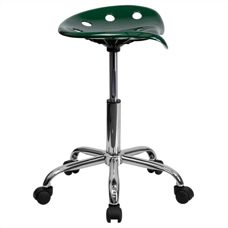 Flash Furniture Vibrant Adjustable Bar Stool in Green