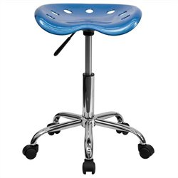 Adjustable Bar Stool in Bright Blue