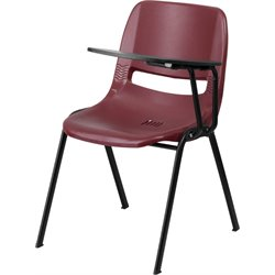 Flash Furniture Ergonomic Shell Guest Chair in Burgundy