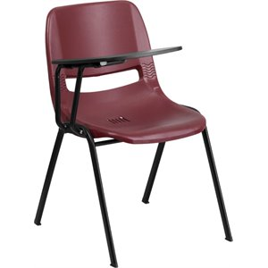 Ergonomic Shell Guest Chair in Burgundy