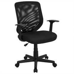 Flash Furniture Mid-Back Mesh Office Chair in Black