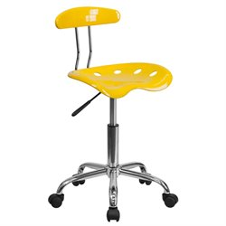 Flash Furniture Vibrant Computer Task Chair in Yellow